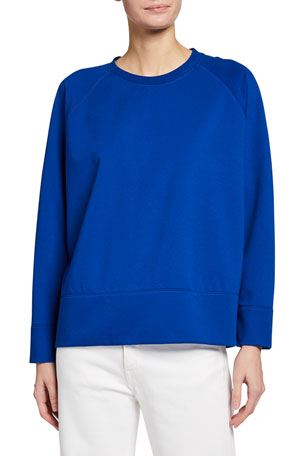 Eileen Fisher Petite Flex Ponte Crewneck Raglan Top