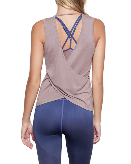 Image 2 of 4: Good American Sheer Cross Back Tank - Inclusive Sizing