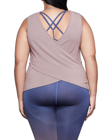 Image 4 of 4: Good American Sheer Cross Back Tank - Inclusive Sizing