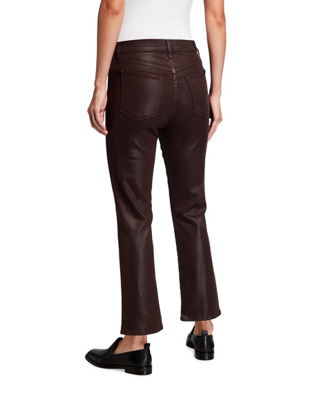 Image 2 of 3: 7 for all mankind High-Waist Slim Kick Coated Pants