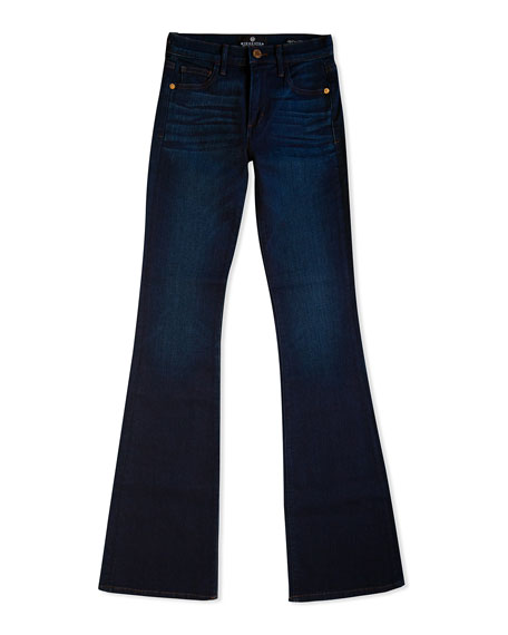 Image 4 of 5: Midheaven Denim Valentina Mid-Rise Flare Jeans