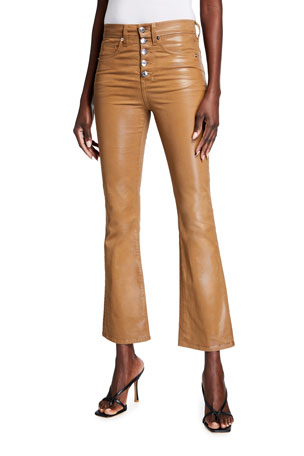 Veronica Beard Jeans Carolyn Kick-Flare Coated Jeans