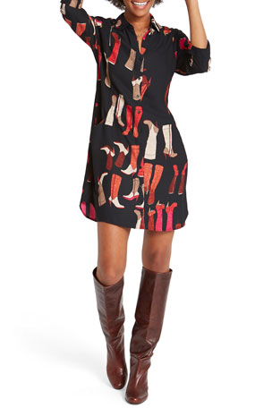 NIC+ZOE These Boots Shirtdress