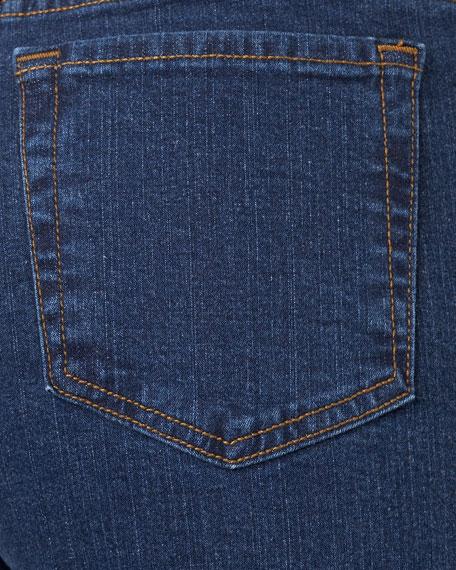 Petite Bootcut Jeans, Dark Blue