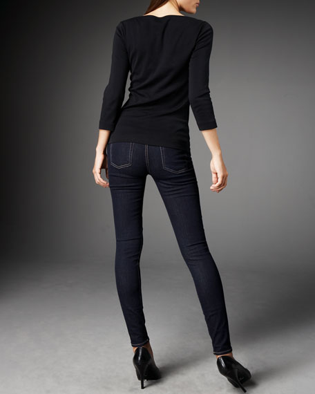 Skinny Denim Leggings, Indigo