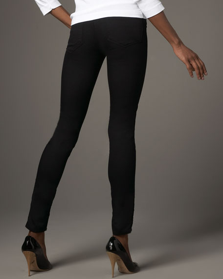 DENIM LEGGINGS - PITCH (BLK)