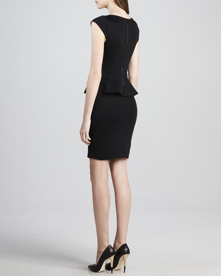 Victoria Knit Peplum Dress