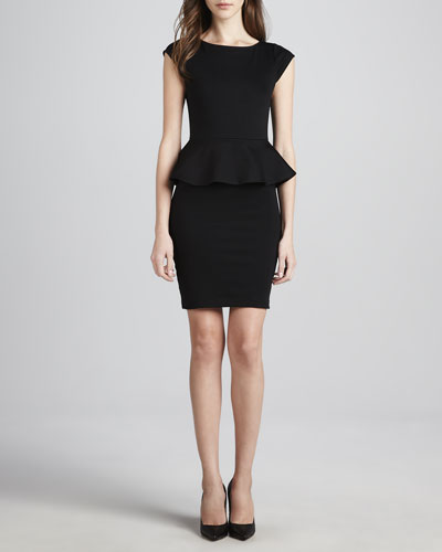 Alice + Olivia Victoria Knit Peplum Dress