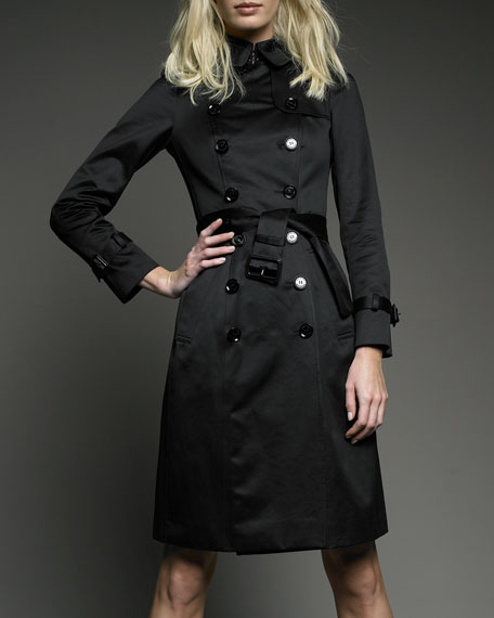 COTTON SATIN TRENCH COAT