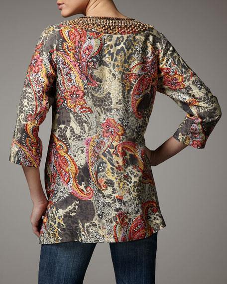 Paisley & Lace-Print Tunic