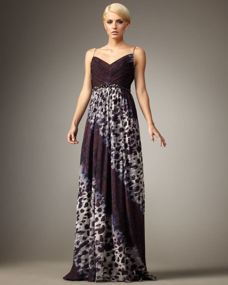 Olivia Pleated-Bodice Gown