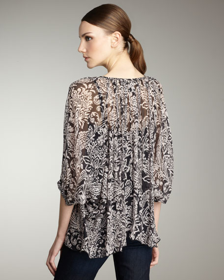 Tiger Lily Blouse, Rosewater