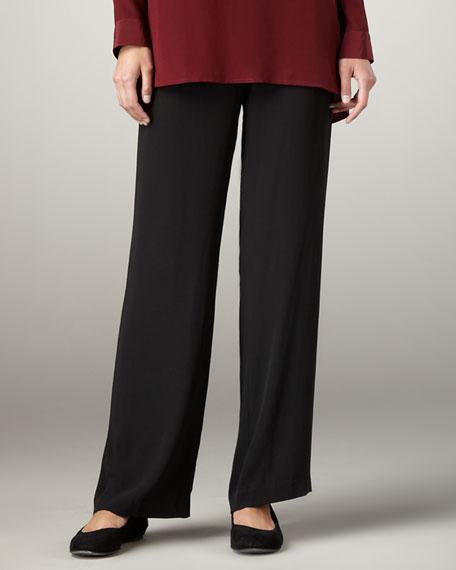 Silk-Georgette Pants