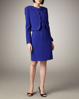 Albert Nipon Scallop Jacket and Dress