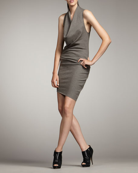 Sonar Cowl-Neck Dress