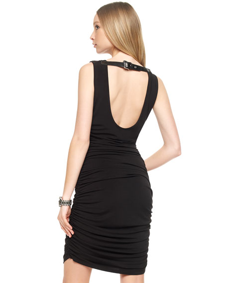 Open-Back Ruched Dress