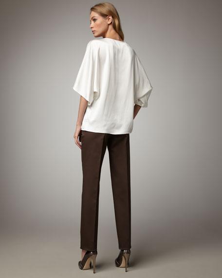 Cotton Sateen Pants, Teak