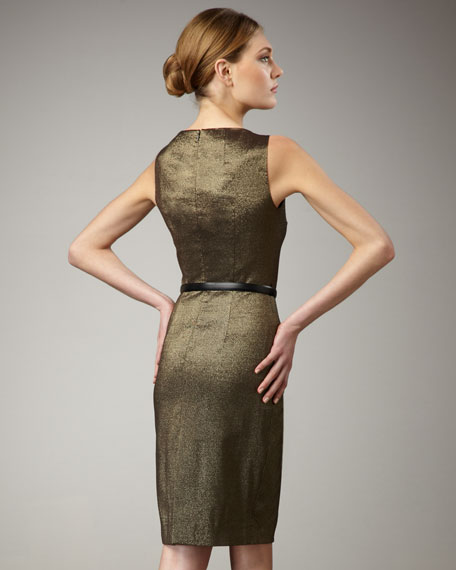 Metallic Dress, Gold