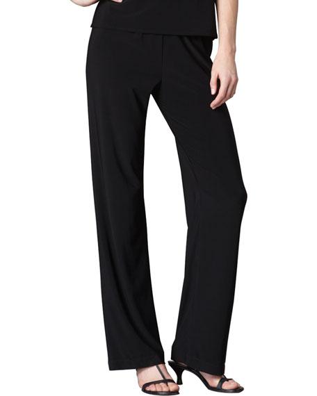 Knit Straight-Leg Pants