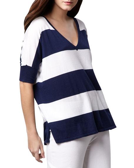 Wide-Stripe Top