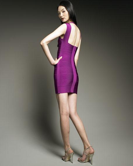 Open-Back Halter Dress