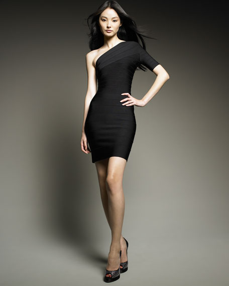 One-Shoulder Essential Bandage Dress