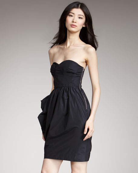 Ellsworth Strapless Taffeta Dress