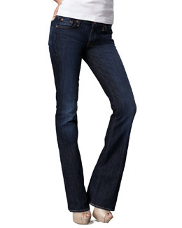 7 For All Mankind Kimmie Midnight NY Dark Curvy Boot-Cut Jeans