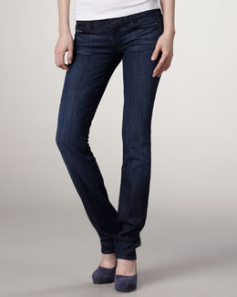 7 For All Mankind Classic Straight-Leg Los Angeles Dark Jeans