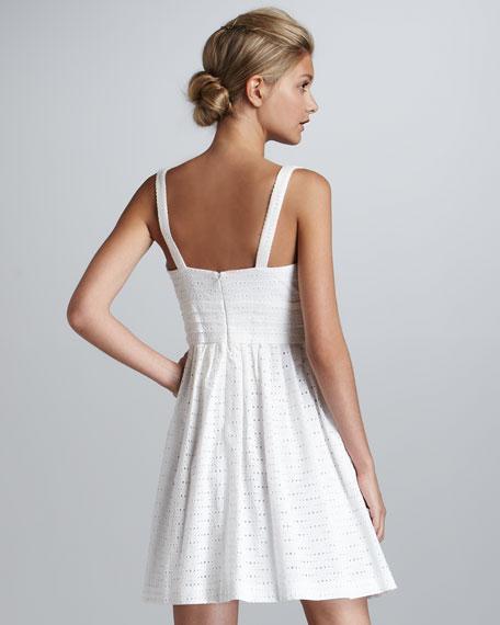 Giselle Sleeveless Eyelet Dress