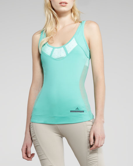Perforated Running Tank, Aero Green