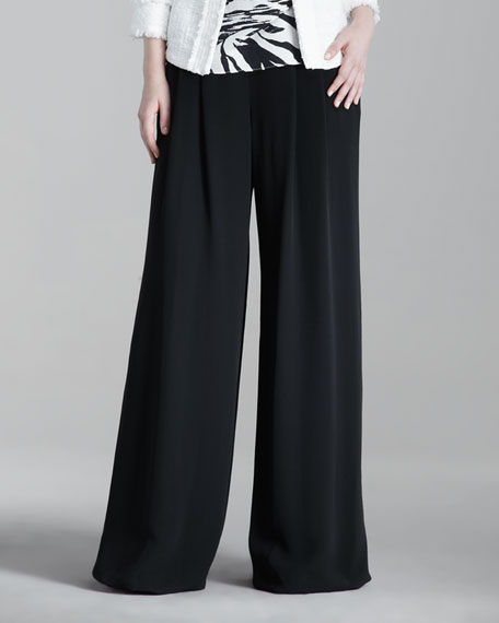 Ludlow Wide-Leg Pants, Black