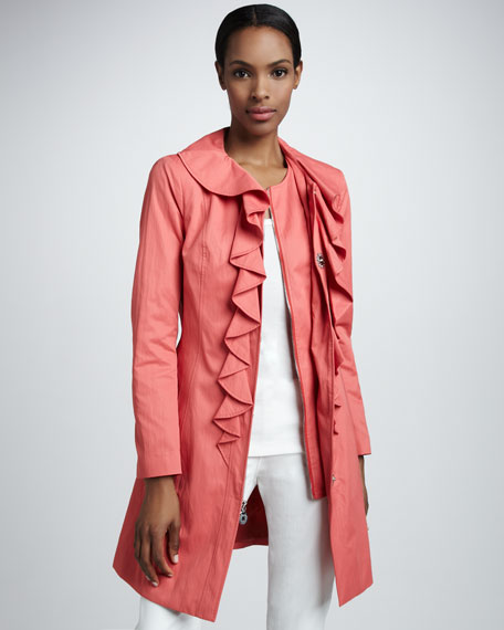 Packable Ruffled Coat