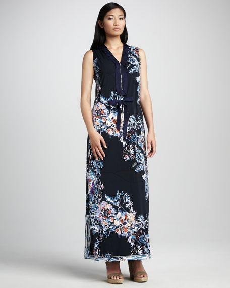 Trisha Printed Maxi Dress, Women's
