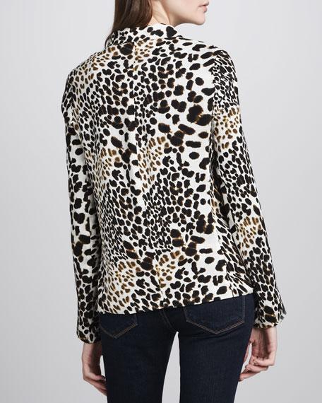 Leopard-Print Blazer
