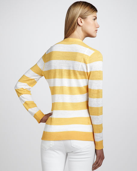 Striped Slub Cardigan