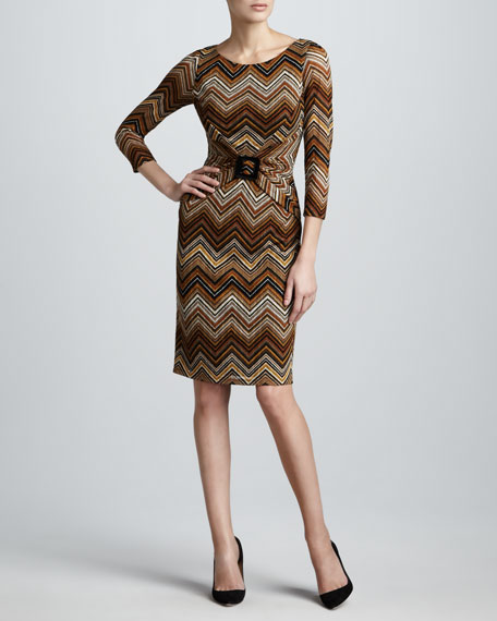 Zigzag-Stripe Dress