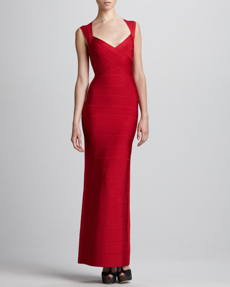 Open-Back Bandage Gown