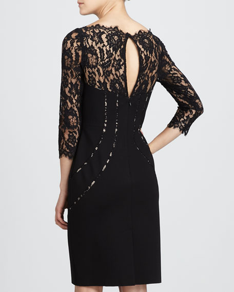 Lace-Top Cocktail Dress