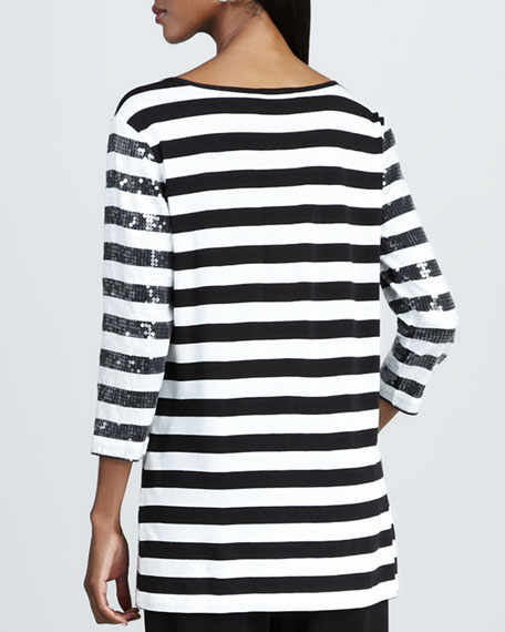 Striped Sequined Tunic