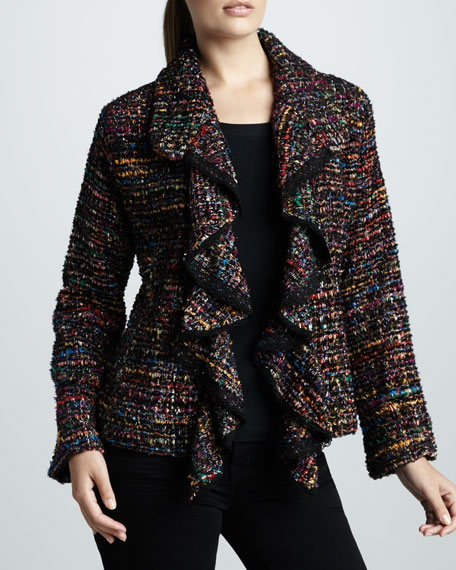 Ruffled Tweed Jacket