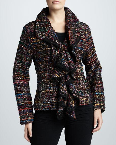 Ruffled Tweed Jacket