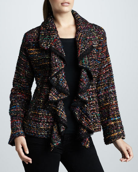 Ruffled Tweed Jacket, Women's