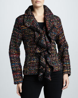 Berek Ruffled Tweed Jacket, Women's