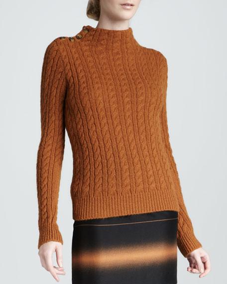 Mira Button-Shoulder Sweater