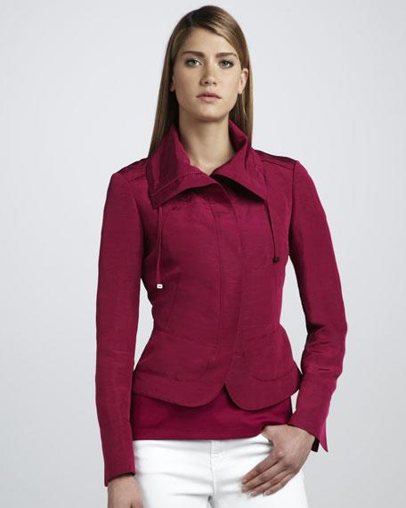 Taffeta Zip Jacket