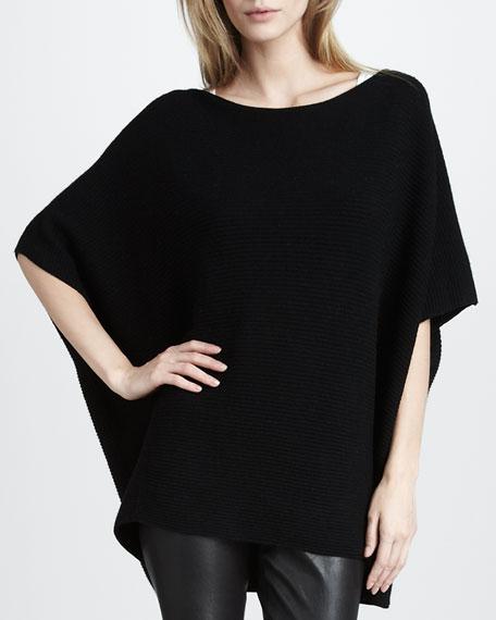 Poncho-Style Sweater, Black
