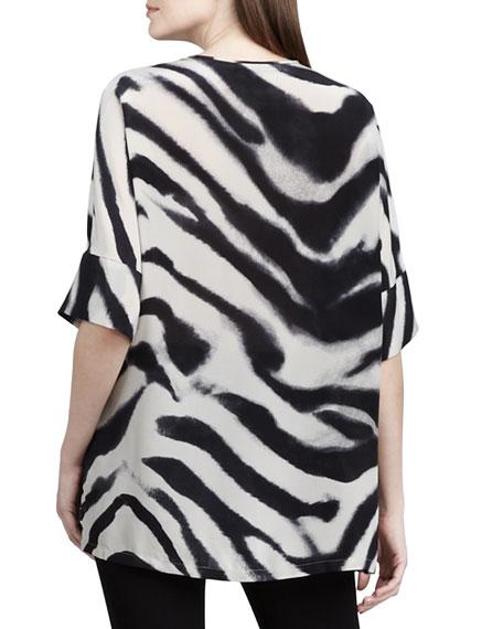 Selene Zebra-Print Top