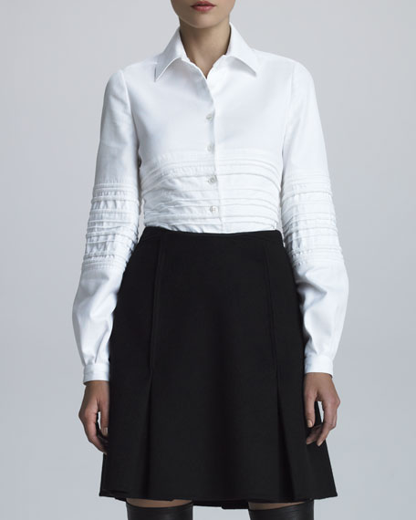 Crepe Panel Skirt