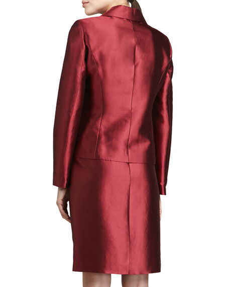 Ruffled Silk-Wool Suit
